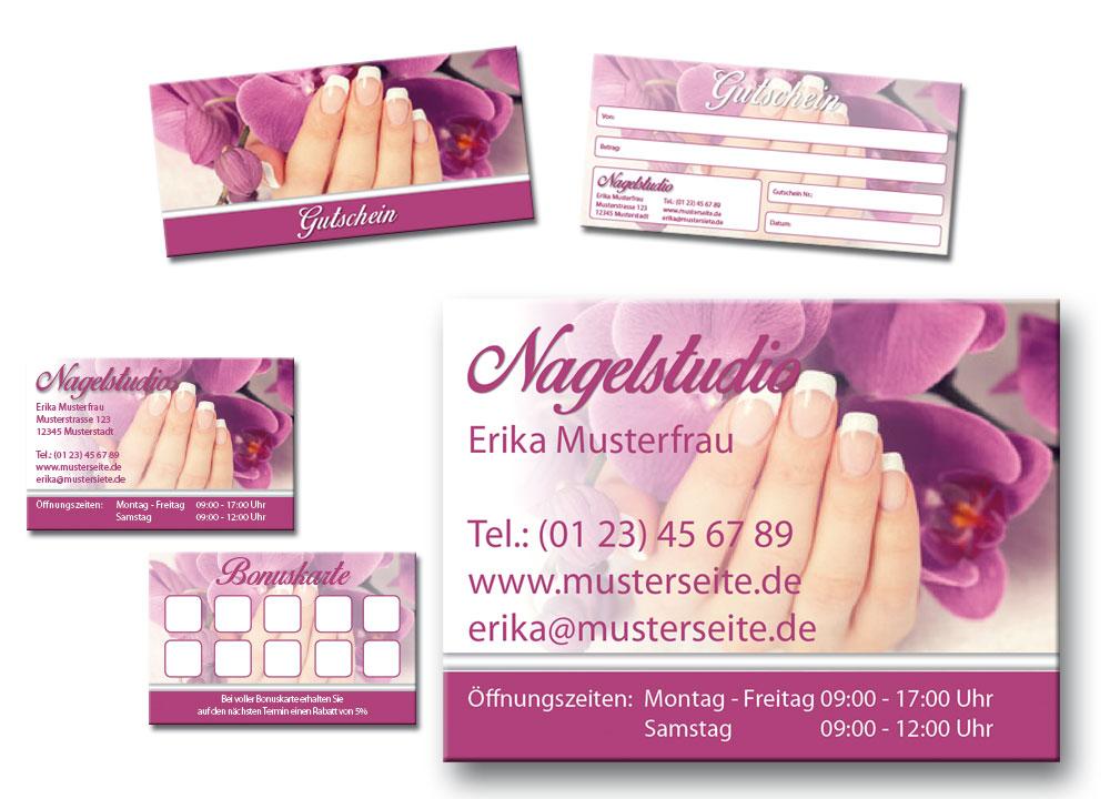 Vorlage Für Kosmetik Nagelstudio
